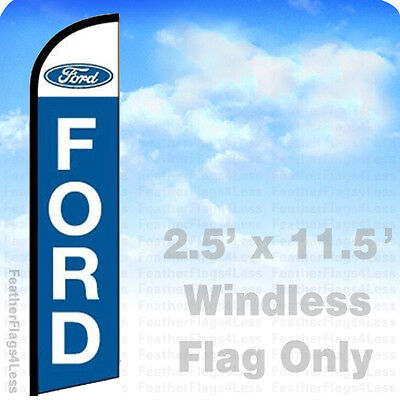 Ford - Windless Swooper Feather Flag Auto Dealer Banner Sign 2.5x11.5 - Bf