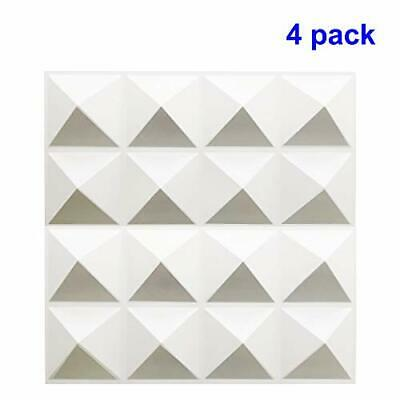 TroyStudio Acoustic Sound Diffuser Panel - Multiple Colors, 12'' X 12'' X White