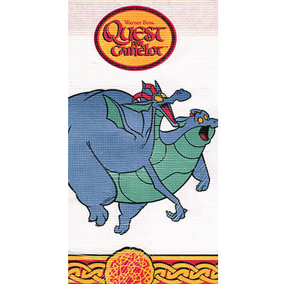 QUEST FOR CAMELOT PAPER TABLE COVER ~ Birthday Party Supplies Decoration Cloth