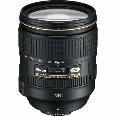 New Nikon AF-S NIKKOR 24-120mm f/4G ED VR Zoom Lens (White Box)