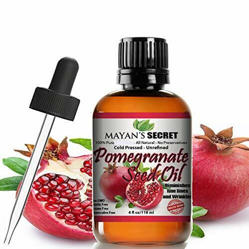 Pomegranate Seed Oil for Skin Repair -Large 4oz Glass Bottle Cold Pressed and Pu Health & Beauty