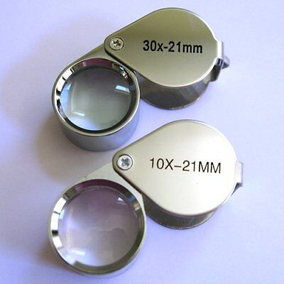New 2pc Jewelers Eye Loupe Set 10X + 30X Magnifying Glass Ships From USA