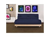 Changing Sofas Complete Triple Seater Futon Sofabed Navy Blue Redruth