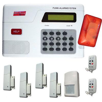 Funk Alarmanlage Set Funk Tür Fenster Kontakt Fernbedienung Alarm