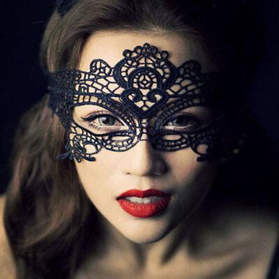 Halloween Masquerade Ball Dress (Sexy Lace Eye Mask Ball Halloween Masquerade Dress Up Fantasy Role)