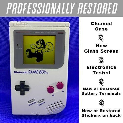 *RESTORED AUTHENTIC ORIGINAL* NINTENDO GAME BOY DMG-01 GRAY CONSOLE SYSTEM
