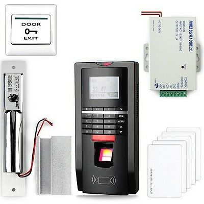 Complete Fingerprint And Rfid Door Access Control System Drop Bolt Lockpsu