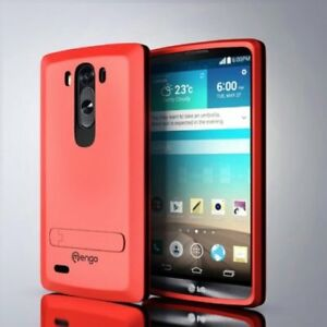 Red LG G3 Case Cover Armor Defender 4 Layer Case Kickstand Red S