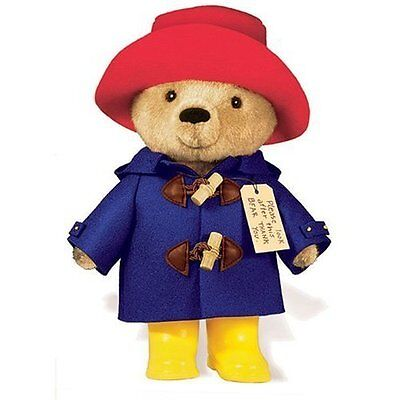 Yottoy Paddington Bear with Raincoat Boots & Red Hat Stuffed Animal Plush Toy