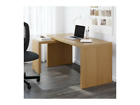 Large Ikea desk - MALM Desk with pull-out panel - Oak veneer - used in great condition £58