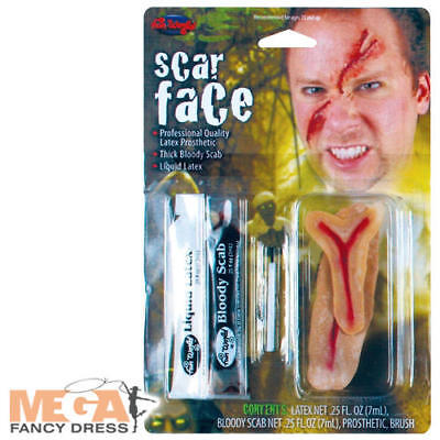 Scar Face FX Make Up Kit Halloween Gory Zombie Fancy Dress Costume Accessory  (Scarface Fancy Dress Kostüm)