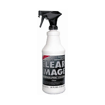 Clear Image 32oz Spray Radiographic Cleaner Cleans Processors Rollers Tanks
