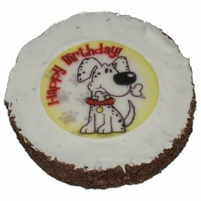 Dog Birthday Cake Hatchwells Dog Gift Present, Treat 4in dia x 3/4in thick