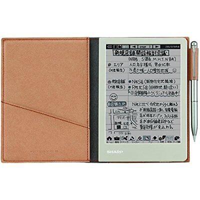 SHARP Electronic Memo Pad WG-S30-T Brown Japan new .