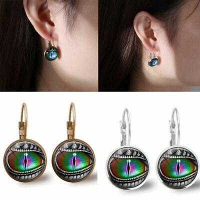 Original Design Handmade Photography Pierced Earrings Glass Cabochon Jewelry