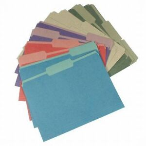 24 Pendaflex Letter Size File Folders Label Tabs Office Paper Filing 5 Colors