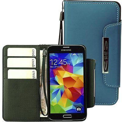 Handytasche für Samsung Galaxy S5 Case Etui Hülle Phone  S 5 blaugrün Phone Cases Für Galaxy S5