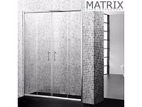 Matrix H1850mm x W1400mm Premium Economy Double Sliding Shower Door 6mm - SPE14