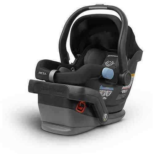 UPPAbaby MESA Baby Infant Car Seat with UPF Canopy - Jake (Black)
