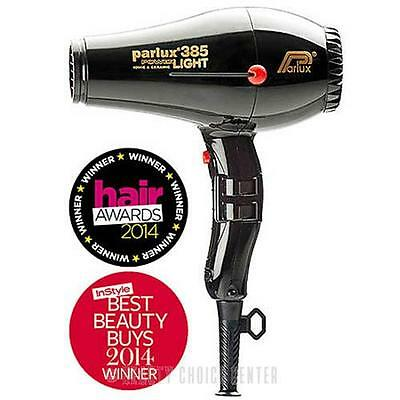 Parlux 385 PowerLight Ionic and Ceramic Hair Dryer - Black
