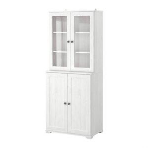 ik a tag re borgsjo avec panneau portes vitr es blanc. Black Bedroom Furniture Sets. Home Design Ideas