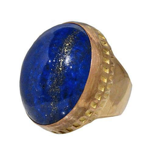 Mens Gold Lapis Ring Ebay