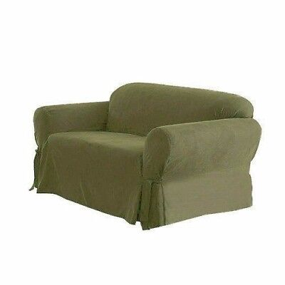 Chezmoi Collection Soft Heavyweight MicroSuede Slipcover Sofa/Couch, Sage Green