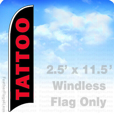 Tattoo - Windless Swooper Feather Flag Banner Sign 2.5x11.5 Kb