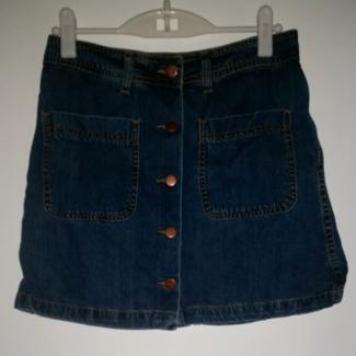 Denim button up skirt Size 10