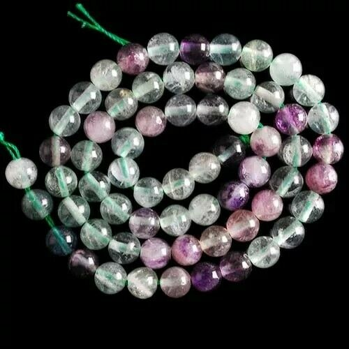 "VD3975 6mm Fluorite Ball Loose Beads 15"""