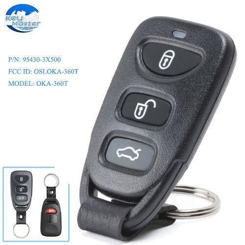 Remote Key Fob 4 Button for Hyundai Elantra 2011-16 P/N: 95430-3X500 OSLOKA-360T