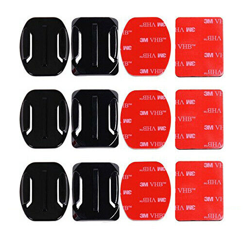 6Pcs Helmet Accessories Flat Curved Adhesive Mount for GoPro HERO9 8 7 6 5 4 3