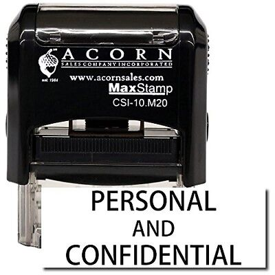 Maxstamp - Self-inking Personal Confidential Stamp Black Ink