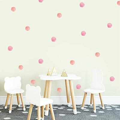Pink Polka Dot Wall Decor Dots Wall Decals Decorations for Living Room Kids B...