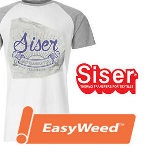 "Siser Easyweed 15"" x 1 yd Heat transfer film heat press t shirt"