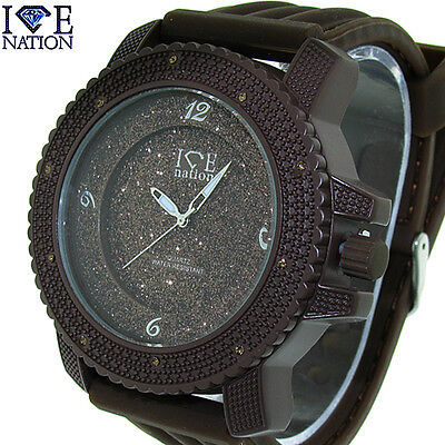 (Brand New Men's Hip Hop Iced Out Swiss Elegant Design Bullet Band watch W1866)
