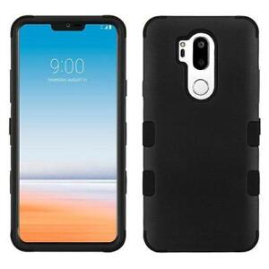 LG G7 ThinQ Tough Sturdy Rugged Heavy Duty Dual Layer Armour TPU Silicone Rubber Hybrid Protector Case