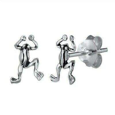 Frog Stud Earrings Genuine Sterling Silver 925 Best Deal Jewelry 9