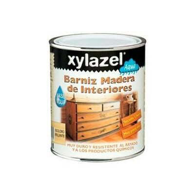 Xylazel Barniz Madera Interiores Nogal Rustico Brillante 750 ML Base Agua