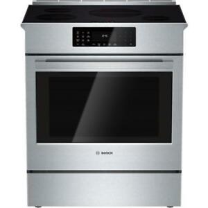 Bosch HIIP054C Benchmark Series 30 Stainless Steel Induction Slide-in Range