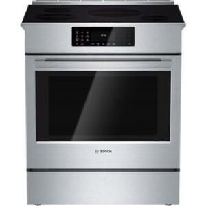 "Bosch HIIP054C Benchmark Series 30"" Stainless Steel Induction Slide-in Range"