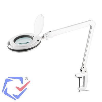 Kemot Lampada da Tavolo Professionale a 60 LED Lente di Ingrandimento 5 Diottrie