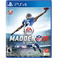 Madden 16 for PS4. Can Deliver