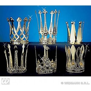 Crown Aluminium Hat for Regal Royal King Queen Fancy Dress Accessory