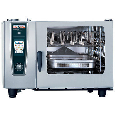 Rational Model 62 A628206.19e Gas Combi Oven With Six Full Size Sheet Pan Capac