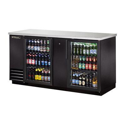 True Tbb-3g-ld Back Bar Cooler 2 Glass Door Wled Lighting 69w Black