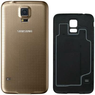 Cubierta Trasera Para Samsung Galaxy S5 Sm G900 Oro Atrás Cover Tapa...