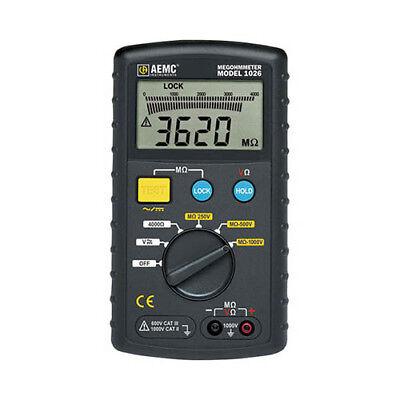 Aemc 1026 Digital Multi-function Megohmmeter 1000v Max Test Voltage