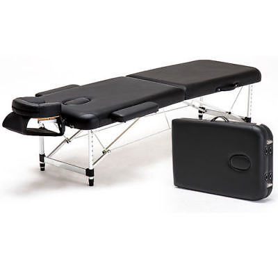 Aluminum 2 Fold Massage Table Portable Facial Parlor SPA Bed Tattoo w/Carry Case
