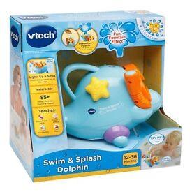 Vtech bath dolphin Bnwt